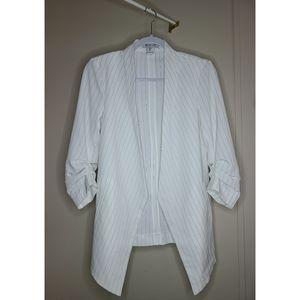 Rachel Zoe 3/4 Ruched Sleeve Blazer